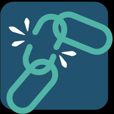 Broken chain icon