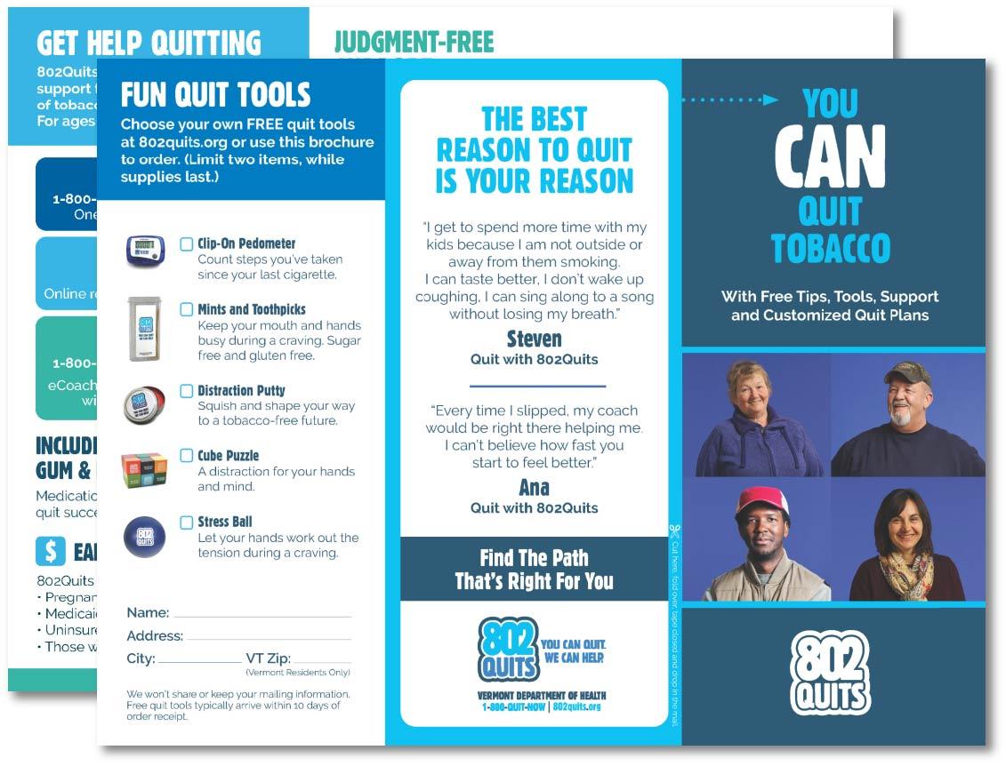 802Quits Tri-Fold Brochure 2021